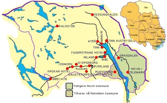 tessungdalen kart Stempler fra Tinn i Telemark   Startside tessungdalen kart
